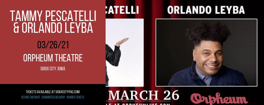 Tammy Pescatelli & Orlando Leyba at Orpheum Theatre